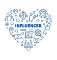 influencer concept heart linear vector image vector image