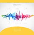 infographic template with colorful shapes and vector image vector image