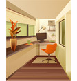 interior workplace on balcony vector image vector image