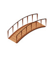 isometric bridge icon 3d isolated drawing vector image vector image