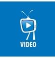 logo tv vector image vector image