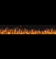 long fire flame with horizontal repeat vector image vector image