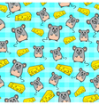 mice pattern vector image vector image