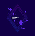 modern abstract element with dynamic waves vector image