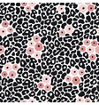 modern black and white leopard seamless pattern vector image vector image