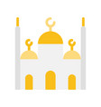 mosque ramadan related flat icon vector image vector image
