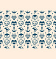 old school tattoo hipster style seamless pattern vector image vector image