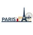 paris tourism travelling paris city vector image vector image