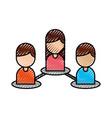 people team group business organization flowchart vector image