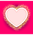 pink heart frame vector image vector image