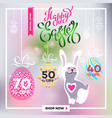 poster for happy easter 18 vector image vector image