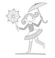 pretty girl acrobat walking a tightrope vector image vector image