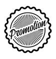 promotion stamp label vector image