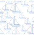 sailing boat seamless pattern vector image vector image