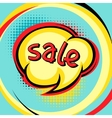 Sale comic speech bubble background in cartoon vector image vector image