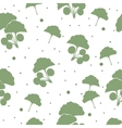 Seamless pattern branches and leaves of ginkgo vector image vector image