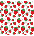 seamless pattern strawberry fruits summer ornament vector image vector image