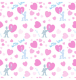 Seamless pattern with men and pink hearts vector image vector image