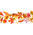 seamless pattern with stylized autumn items vector image vector image