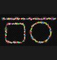 set fairy lights vector image
