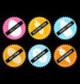 set icon egg free gluten dairy nut no vector image vector image