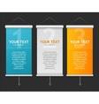 Set of Blank roll up posters vector image vector image
