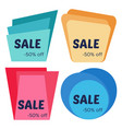 set of four sale sticker with geometric forms vector image vector image