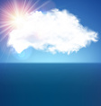 Single cloud over blue vector image vector image