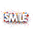 Smile sign vector image vector image