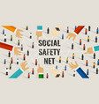 social safety net services state includes vector image