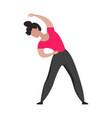 sport training slim athletic girl in sportswear vector image