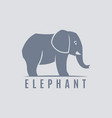 standing elephant silhouette vector image vector image