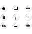 Stickers with landmark icons - Stockholm vector image vector image