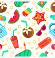 summer seamless pattern on a vector image vector image