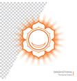 swadhisthana - chakra human body vector image vector image