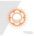 swadhisthana - chakra of human body vector image vector image