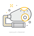 Thin line icons Vacuum cleaner vector image vector image