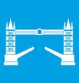 tower bridge icon white vector image vector image