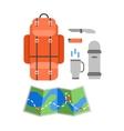Trip design elements travel icon set