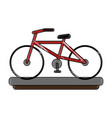 vintage bike isolated vector image vector image