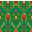 Vintage variegated seamless pattern ivy and fire vector image