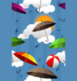 wallpaper of colorful umbrellas vector image