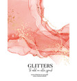 watercolor coral gold luxury design contemporary vector image vector image