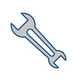 wrench tool object vector image vector image