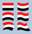 Yemen flag Set of flags of Republic of Yemen in vector image vector image