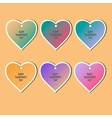 Happy Valentines Day Cards Set for Holiday Labels vector image