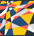 abstract colorful geometric pattern trendy vector image
