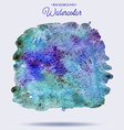 Abstract hand paint watercolor background vector image