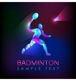 Abstract silhouette of a badminton player vector image