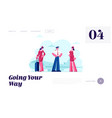 air hostess service website landing page aviation vector image